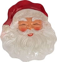 Glass Santa Face Plate