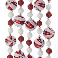 Kurt Adler - 6-Foot Glitter Candy Ball Garland