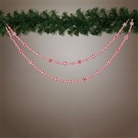 Gerson - 72 Inch Glittered Candy Garland