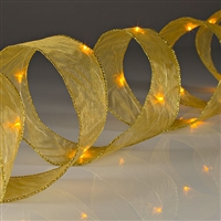 Shape-able Mesh Ribbon with Gold LED's