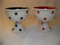 Graces Pantry Stemware - Red, White and Blue - Set of 2