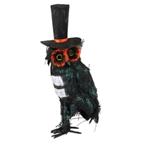 Grassland Road - Halloween Owl With Top Hat