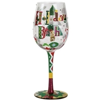 Holiday Bash Wine Glass
