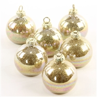 Iridescent Gold Glass Place Card Holder and Ornament