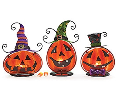 Jack-O-Lantern Votive Holder