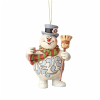 Jim Shore - Frosty With Broom Ornament