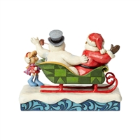 Jim Shore Santa, Frosty and Karen with Sleigh