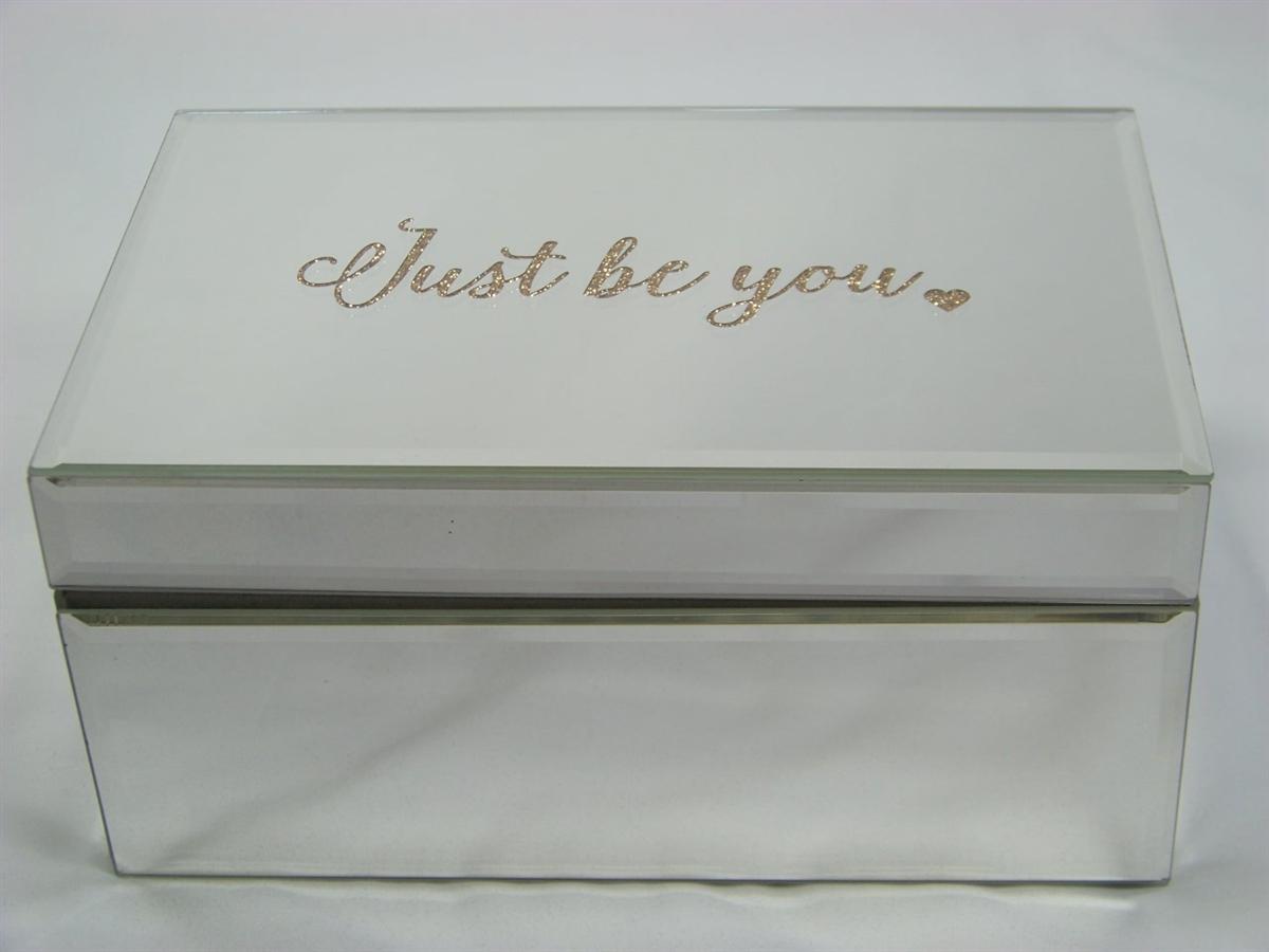 Kensie Home Glass Jewelry Box 8 x 5