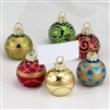 Kurt Adler Glass Ornament Style Place Card Holders