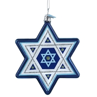 Kurt Adler - Noble Gems Star of David Hanukkah Ornament