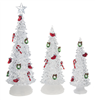 Light Up Decorated Christmas Trees - Set of 3