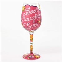 Lolita - Best Daughter Ever - 15 oz Wine Glass