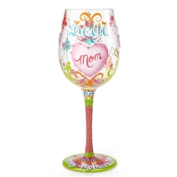 Lolita - I Love You Mom - 15 oz Wine Glass