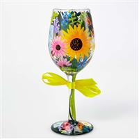 Lolita - Wildflowers - 15 oz Wine Glass