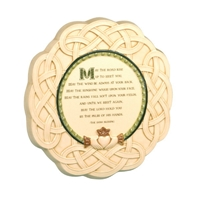 """May the Road Rise"" Irish Celtic Plaque with Stand"