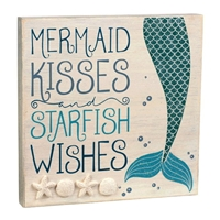 Mermaid Kisses and Starfish Wishes Box Sign
