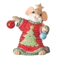 Charming Tails - Mouse with Ugly Sweater- 131634