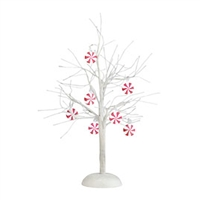 Peppermint Lit Bare Branch Tree
