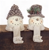 Pinecone Snowman stocking Holders