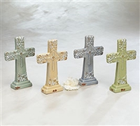 Porcelain Pastel Crosses w/ Distressed Finish