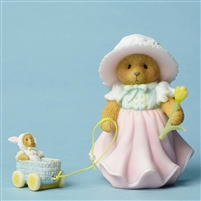 Cherished Teddies - Pulling Bear In Tulip Basket