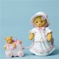 Cherished Teddies - Pulling a Heart Shaped Cart - 4051036