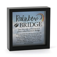 Rainbow Bridge Pet Remembrance Shadow Box