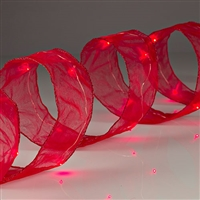 Shape-able Mesh Ribbon with Red LED's
