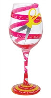 Red Tape Wine Glass