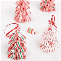 RAZ Imports - Ribbon Candy Tree Ornaments - Set of 4