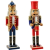 "RAZ - 15"" Santas Workshop Nutcrackers - Set of 2"