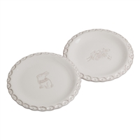 Sculpted Rim Tidbit Plates - Set of 2