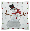 Large Glass Serving Bowl with Snowman Design - GANZ