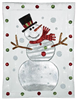 Large Glass Serving Platter with Snowman Design - GANZ