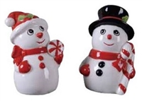 Snowman Salt and Pepper Shakers - 1 set