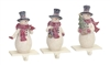 Snowman Stocking Holders - Set of 3