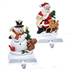Snowman and Santa Stocking Holders
