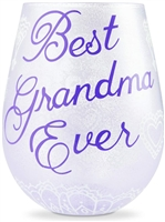 Lolita - Stemless Wine Glass - Best Grandma Ever - 20 Oz