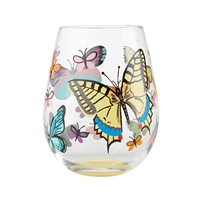 Lolita - Stemless Wine Glass - Butterfly - 20 Oz