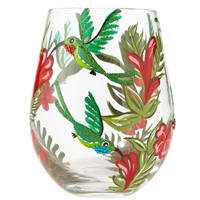 Lolita - Stemless Wine Glass - Hummingbird - 20 Oz