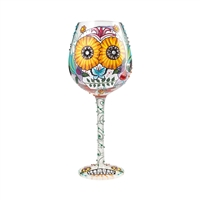 Lolita - Sugar Skulls  - Bling Wine Glass