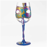 Lolita - Time To Party Gras - 15 oz Wine Glass