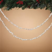 Gerson - White Popcorn Garland - 9 feet Long