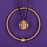 Sacred Cubit Energie PH, copper, 24K gold plated, lacquered