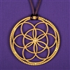 Sacred Cubit 1/2 Light-Life Lotus Pendant, copper, 24K Gold Plated