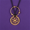 Sacred Cubit 1/4 Light-Life Lotus Pendant, vergoldet