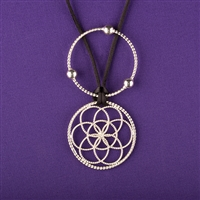 Lost Cubit 1/4 Light-Life Lotus Pendant versilbert