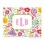 Bright Floral Folded Note