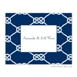 Nautical Knot Navy Folded Note