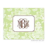 Chinoiserie Green Folded Note